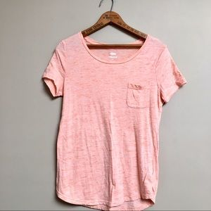 Old Navy orange heather Relaxed Fit scoopneck tee